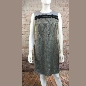 Tory Burch Dress 10 Sleeveless Shift Wool Lace